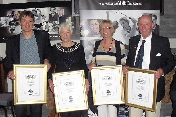 2011 HoF_inductees_Paul_Steel_Ann_Stephens_Pam_Davis_Norm_Coe