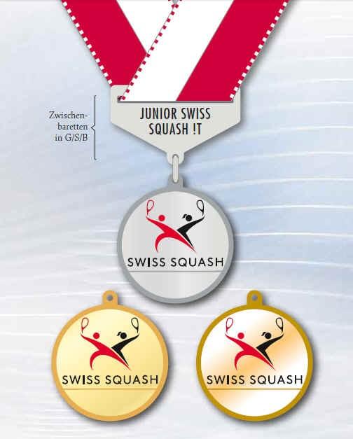 Medaillen Squash T 1718